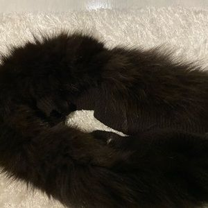 Other - Brown faux fur stalk scarf